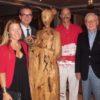 De izquierda a derecha, Anouchka Gerlach, Robert Heitzig, Javier Salvadores y Theo Gerlach, en la inauguración de la exposición (foto: Seaside Hotels)