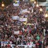 Manifestación en Lanzarote contra las prospecciones petrolíferas de Repsol