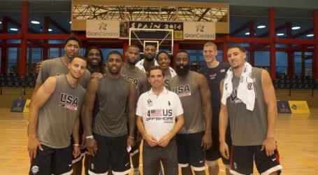 El Cabildo da la bienvenida a Gran Canaria a la selección USA de basket