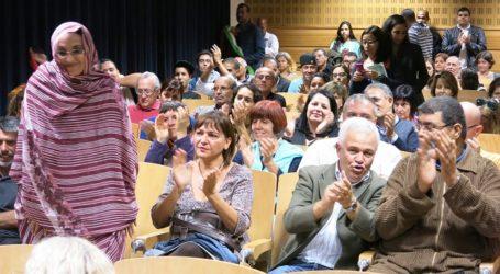 Aminetu Haidar se presentó por sorpresa en la Muestra de Cortos de Santa Lucía