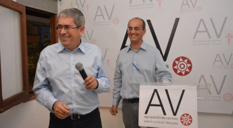 """Agrupación de Vecinos llega a Santa Lucía con el ánimo de """"revertir la parálisis que sufre"""""""