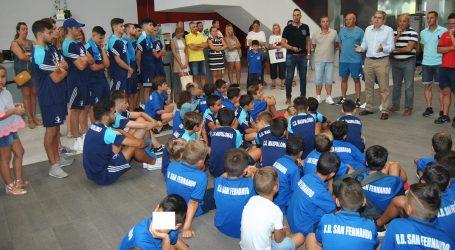 Recepción en el Ayuntamiento a los equipos de CD Tablero, CD Maspalomas y UD San Fernando