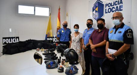 El Ayuntamiento de Mogán dota a su  Policía Local de material antidisturbios