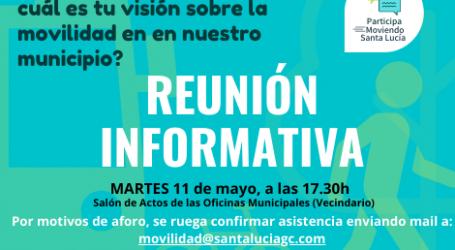 El Ayuntamiento convoca a la ciudadanía y a colectivos sociales  para debatir  propuestas que mejoren la movilidad en Santa Lucía