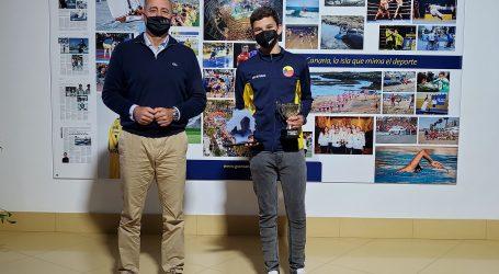 Francisco Castellano recibe José Falcón Paiser, subcampeón de España Infantil de Esgrima 2021