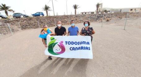El Ayuntamiento ayuda a habilitar una parcela para el acopio y reclasificación de tapones solidarios