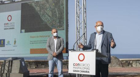 El proyecto de mejora del Paseo de Meloneras, cuya segunda fase financia el Cabildo con 700.000 euros, culminará a principios de 2022