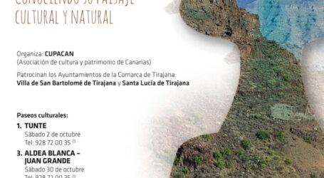 Tunte protagoniza los paseos culturales de CUPACAN el próximo 2 de octubre
